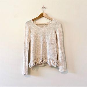 Anthropologie Anthro Moth sweater fringe boho XS
